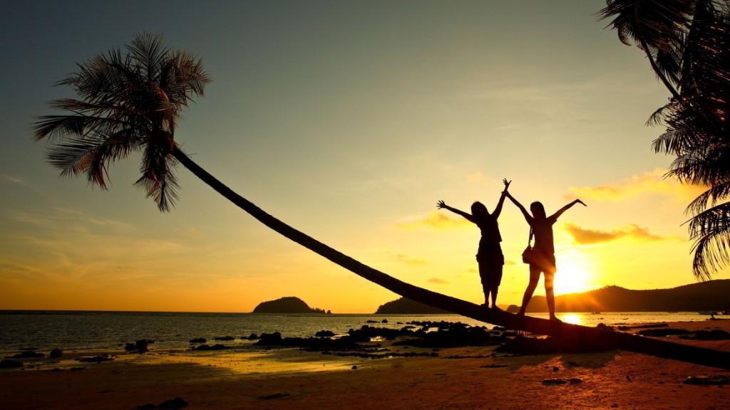6951325-beach-girl-sunset-fun
