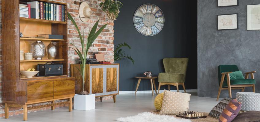 Útulný obývací pokoj ve třech krocích